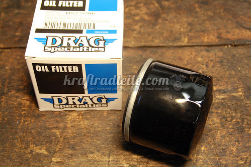 Öl Filter, short, XL 80-84 / FL/FX 82-84, black or chromed