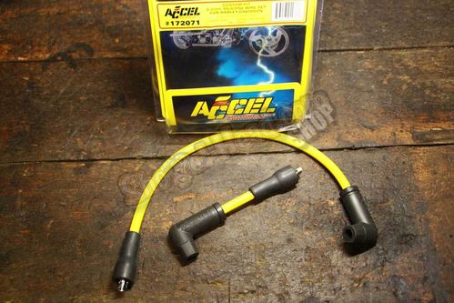 ACCEL 8.8mm Silicone Ignion Cable Set, Graphite RFI Suppression, yellow, BT 78-84