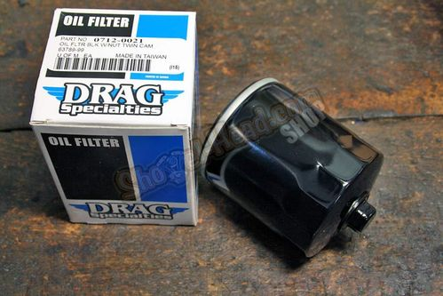 Oilfilter Twincam 1999 up, black, with Wrench-Off Nut