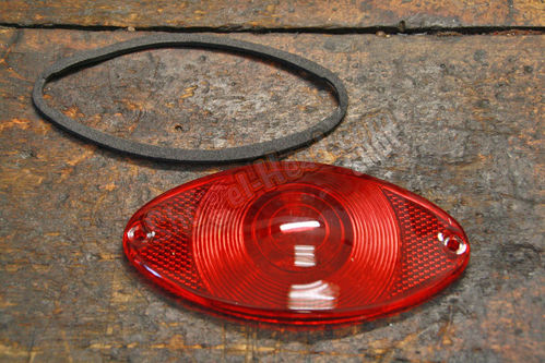 Cat Eye Taillight replacement Lense, incl. Gasket