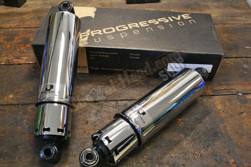 Progressive Suspension 412 Series, Chrome, Full Cover