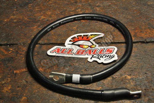 "All Balls Battery Cable, black, 21"" (~53cm)"