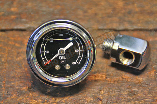 Rockerbox based Oil Pressure Gauge, BT 71-84 / Sportster© 71-85