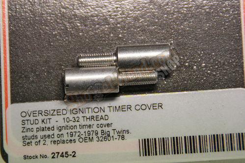 Ignition Timer Cover STud Kit, OVERSIZE, 10-32 Thread, BT 72-79