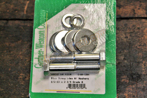 "Riser Bolt Kit, Hex-Head, 1/2""-13 x 2 3/4"", chromed"