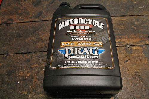 Drag Specialties Engine Oil, 20w50, 1 Gallon (3,785 Liters)