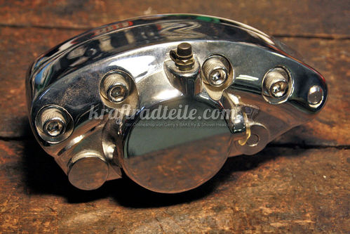 """Banana"" Caliper, chromed, 73-80 FL / FX, rear"