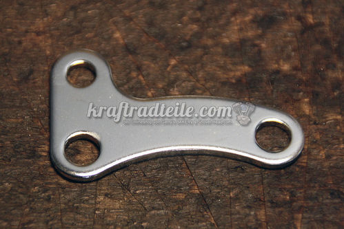 Starter Support Bracket, chromed, BT late 66 - 82