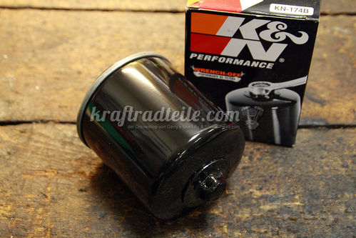 K&N Ölfilter, V-Rod© Models 2002up, black, with Top Nut