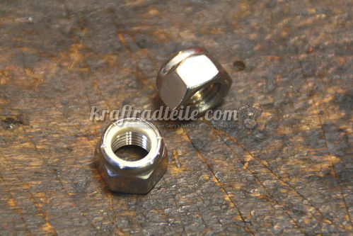 "7/16""-20 Locknut, Stainless"