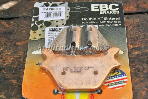 EBC Brake Pads, rear, Double-H, sintered, BT & XL 87-99