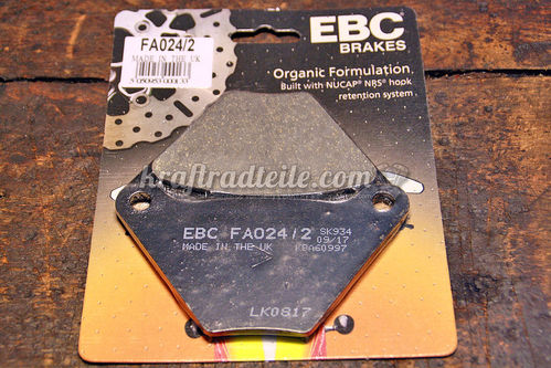 "EBC Pads for ""Banana Style"" Calipers, organic, FL / FX"