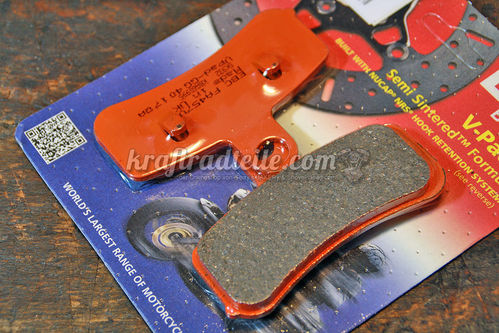 EBC Brake Pads, Semi Sinter, Softail 08-14 / DYNA 08-13, front
