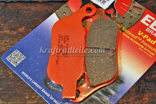 EBC Brake Pads, Semi Sinter, Softail© & DYNA© 2008 - 2017, rear