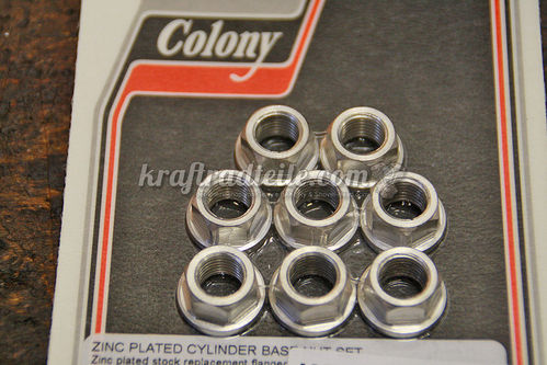 Cylinder Base Nuts, zinc plated, Set, BT 78-84