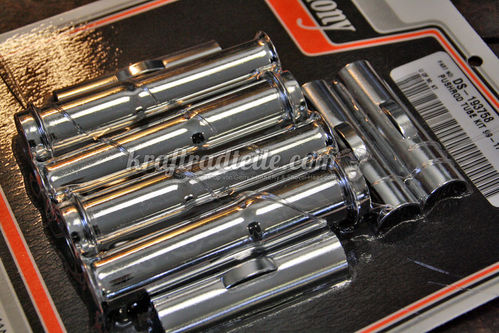 Pushrod Tube Kit, TwinCam© 99-18 with adjustable Pushrods