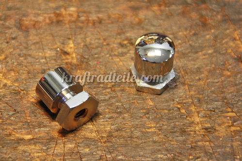 Seat Mount Nuts, Mustang, chromed, Pair, Touring 99up