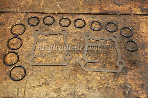 Pushrod Tube O-Ring Kit, TwinCam© 99-17, incl. Tappet Cover Gaskets