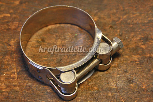 Exhaust Clamp, Behring, Stainless, Adjustable 52-55mm