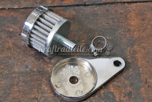 Crankcase Breather Filter Kit, chromed