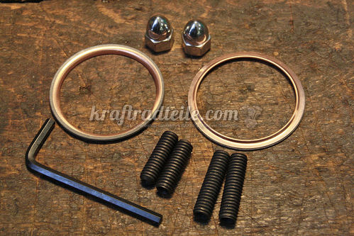 James Exhaust Gasket Kit, round Copper Gaskets, Shovel 66-84