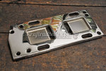 Transmission Mount Plate, chromed, 4-Speed BT 36-85