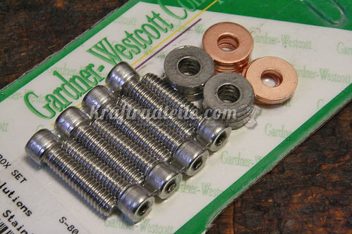 Rocker Box Bolt Set, Stainless, EVO BT 84-99 / XL 86-20