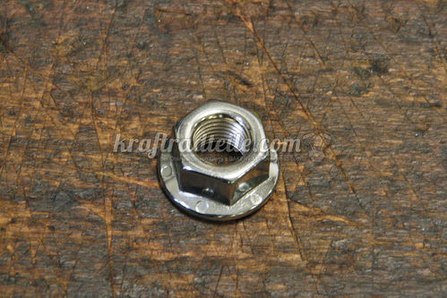 "7/16""-20 Flange Nut, Chrome"
