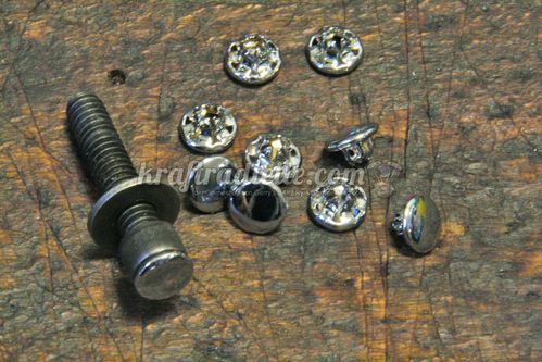"Caps for Allen Head Bolts, 1/4"", Kuryakyn ""Hot Spots"", chromed"