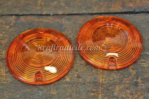 Turn Signal Lense, Pair, E-Approved, various Models 1986up