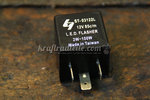 Turn Signal Flasher Relay, 12V, 2-100W, LED & Regular Signals