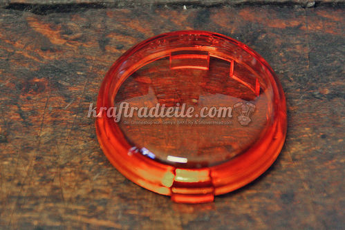Repl. Signal Lens, Amber, E-approved, H-D© Models 2000up with Bullet Signals
