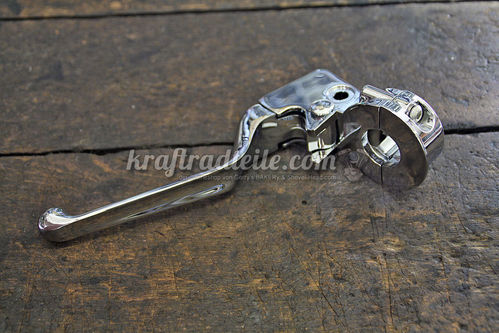 Clutch Lever Assembly, chromed, BT / XL 92-95