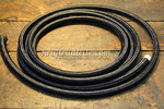 "Oil Hose, black Nylon braided, 3/8"" I.D., sold per meter"